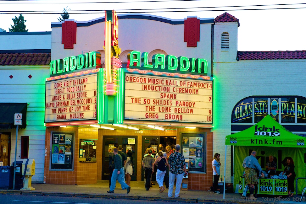 Aladdin Theater, Oregon Music Hall of Fame, photo by John Alcala