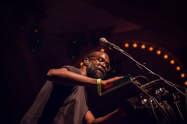 Tunde Adebimpe of TV On The Radio at the Crystal Ballroom on Dec. 11, 2014—click to see an entire gallery of photos by Ronit Fahl