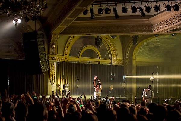 Phantogram at the Crystal Ballroom for December to Remember 2014—click to see more photos by Ronit Fahl