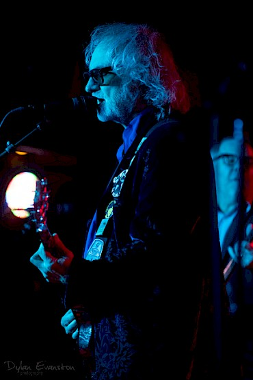 Scott McCaughey rocking Dante's with Young Fresh Fellows in April 2019—click to see more photos by Dylan Evanston