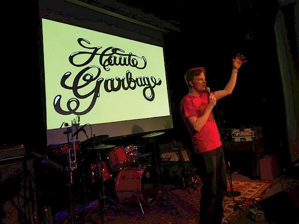 Haute Garbage live at Kelly's Olympian with comedian Jacob Christopher: Photo by Andy Fix