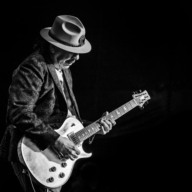 Santana, White River Amphitheatre, photo by Miguel Padilla
