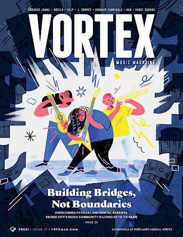 CLICK HERE to join the Vortex Access Party—you'll get a copy of the mag delivered to your door each quarter! Cover illustration by Maria Rodriguez