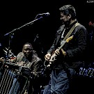 Jimi Hendrix, Buddy Guy, Billy Cox, Dweezil Zappa, Joe Satriani, Eric Johnson, Arlene Schnitzer Concert Hall, photo by Kevin Pettigrew