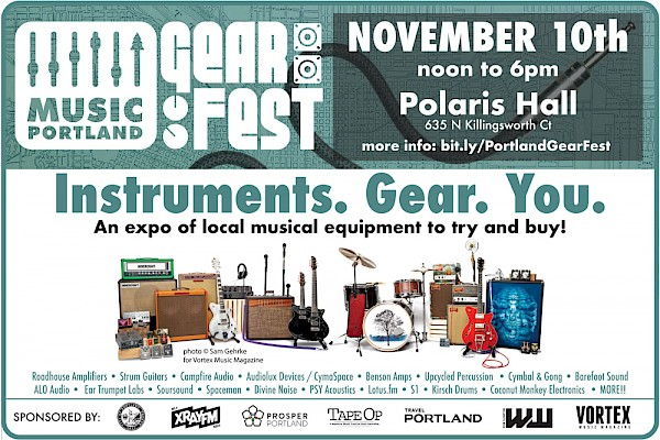 CLICK HERE for more info on all the #PDXmusic exhibitors!
