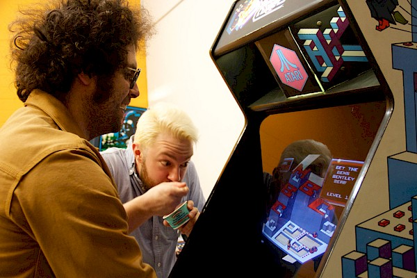 Owners Mo Troper and Chris Hanson at the just-opened Hawthorne Game Exchange: Photo by Jose Amandor