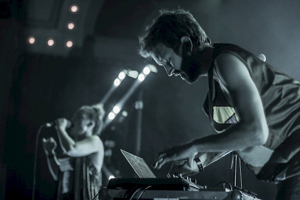 Sylvan Esso at a sold-out Crystal Ballroom on April 24, 2015—click to see a whole gallery of photos by Tomas Alfredo Valladares