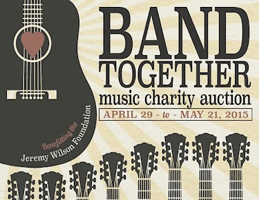 Click to bid on Band Together items in support of The Jeremy Wilson Foundation from now through May 21