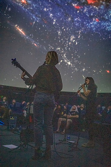 Katelyn Convery and Margaret Wehr captivate fans at a show at OMSI's Kendall Planetarium this past October: Photos by Calico Randall