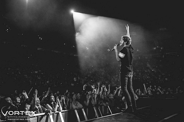 Imagine Dragons kicked off their 'Smoke + Mirrors' tour at Portland's Moda Center on June 3, 2015—click to see a whole gallery of photos by Paul Garcia