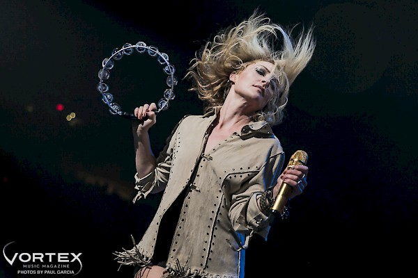 The energetic Emily Haines of Metric—click see a whole gallery of photos by Paul Garcia
