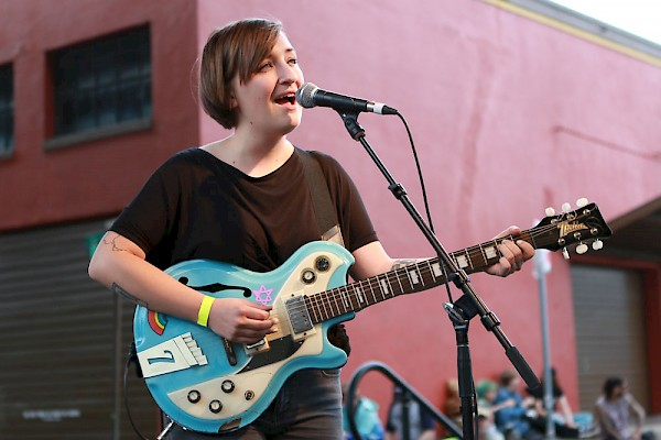 Sierra Haager of Bed. on July 26, 2015—click to see more photos by Henry Novak from PDX Pop Now!