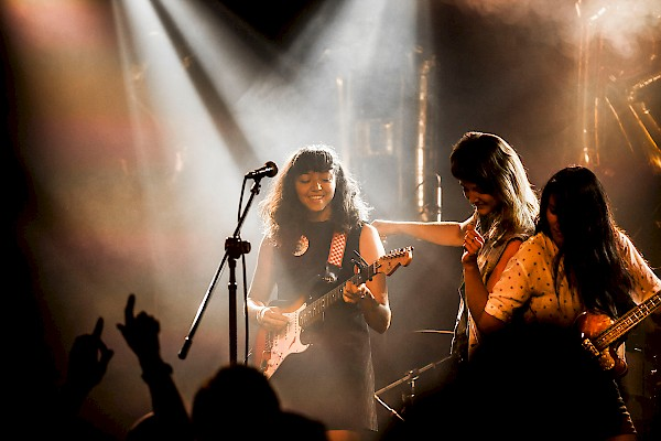 La Luz supports your right to dance onstage with them—click to see a whole gallery of photos by Sam Gehrke