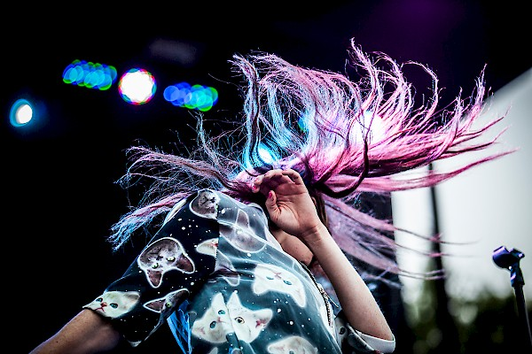 MisterWives' Mandy Lee and her octopus hair—click to see an entire gallery of photos by Sam Gehrke from day one of MusicfestNW on August 21, 2015