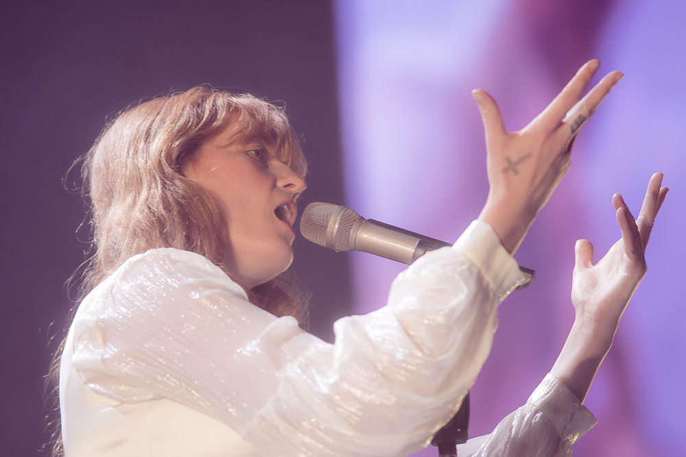 Florence and the Machine, Veterans Memorial Coliseum, Rose Quarter, photo by Corey Terrill