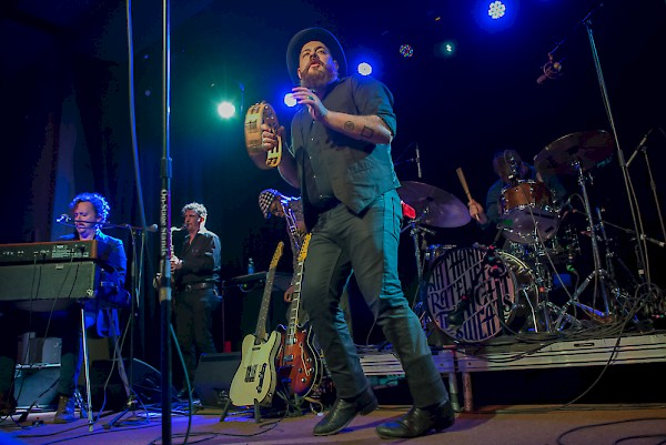 Nathaniel Rateliff shows off his footwork during his set at the Wonder Ballroom—click to see more photos by Miss Ellanea