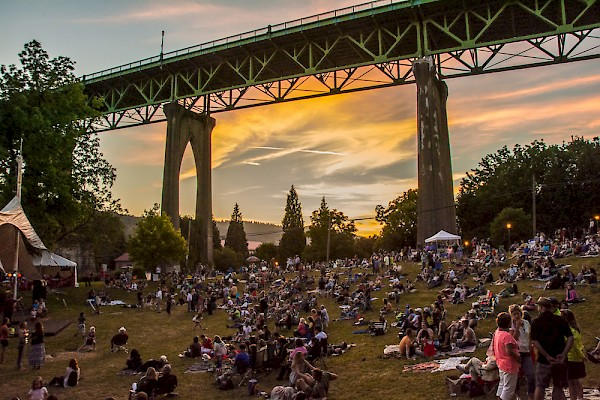 Cathedral Park Jazz Festival in the shadow of St. Johns' iconic bridge: Photo by Image M