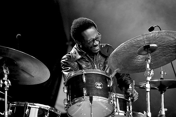 Brian Blade at the Stockholm Jazz Festival in 2010: David Bjorken/Jazzfoto.se