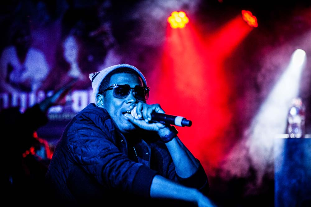 Jay Electronica, Dante's, Soul'd Out Music Festival, photo by Sam Gehrke