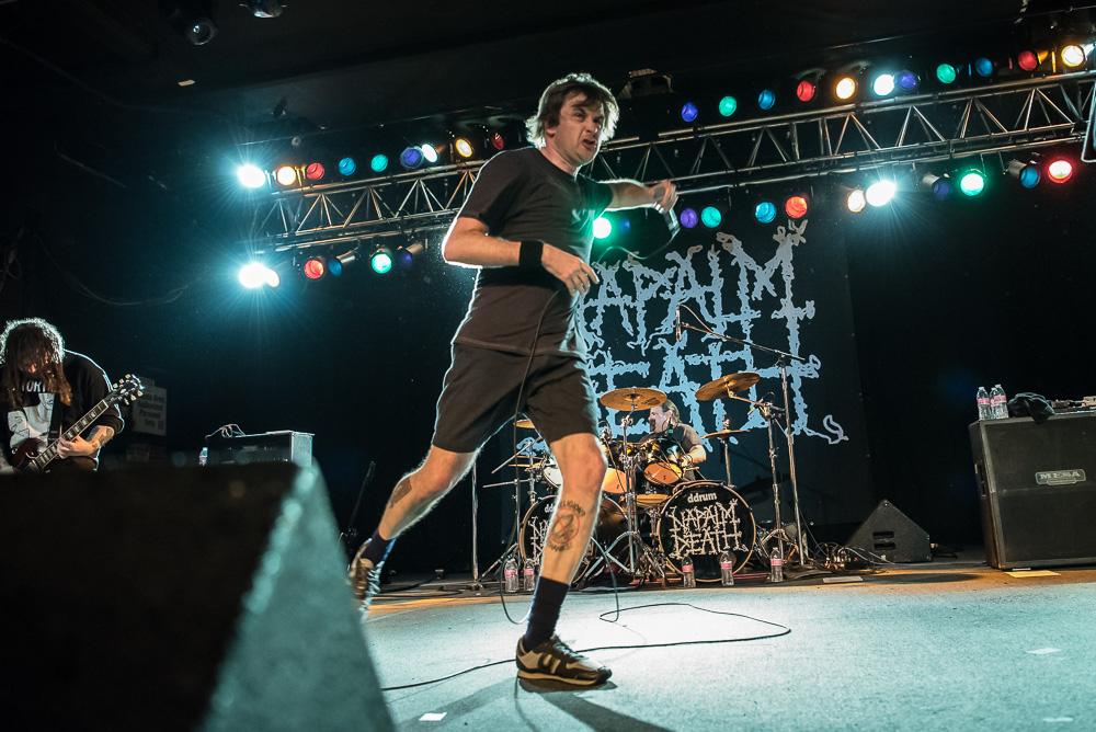 Napalm Death, Roseland Theater, photo by Miss Ellanea