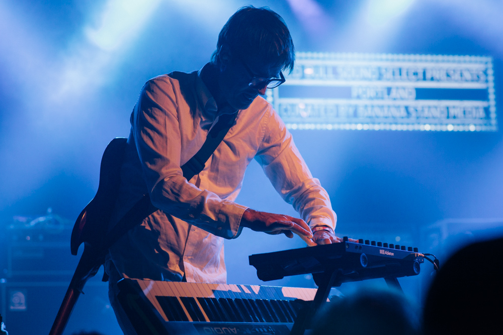 Battles, Wonder Ballroom, photo by Blake Sourisseau