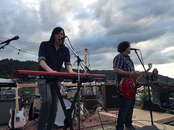 Ken Stringfellow and Jon Auer's DIY set on a WWII ship in St. Johns on May 28, 2016