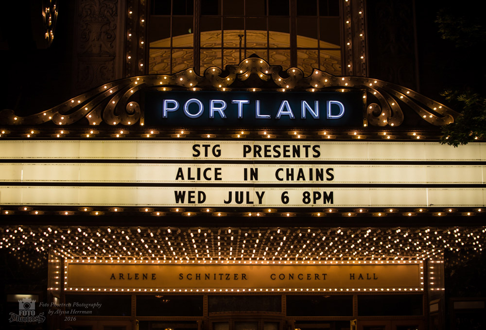 Alice In Chains, Arlene Schnitzer Concert Hall, photo by Alyssa Herrman
