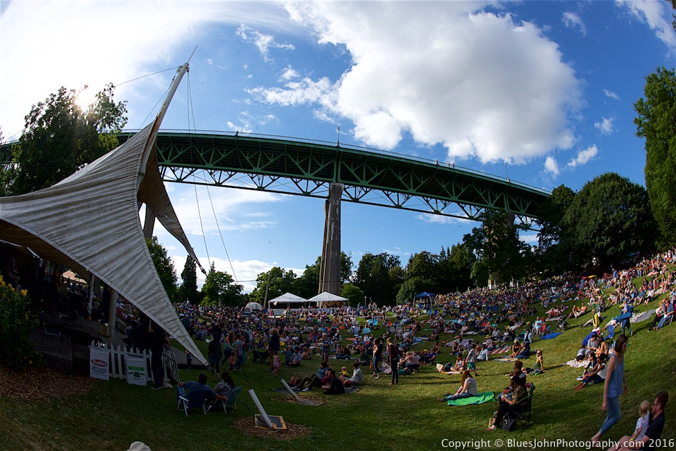 Cathedral Park Jazz Festival, photo by John Alcala