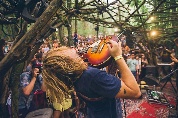 Ty Segall on the Woods Stage in 2015: Photo by Drew Bandy