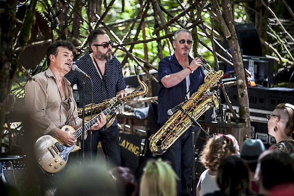 The James Hunter Six on the Woods Stage at Pickathon on August 5: Photo by Sam Gehrke