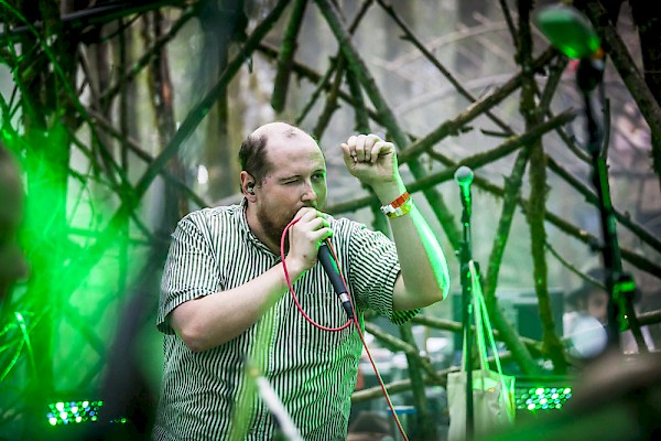 Dan Deacon on the Woods Stage at Pickathon on August 7—click to see more photos by Sam Gehrke