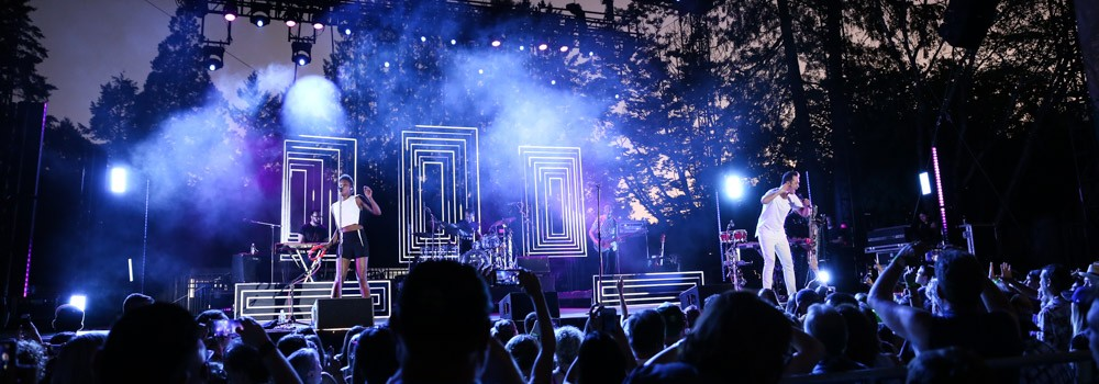Fitz and the Tantrums, Oregon Zoo Amphitheatre, photo by Sydnie Kobza