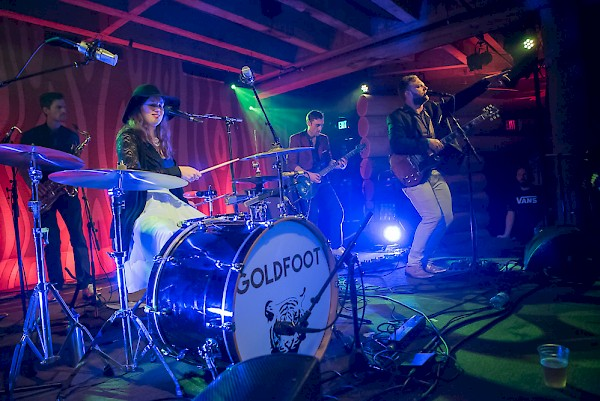 Goldfoot live at the Doug Fir Lounge in 2016—click to see more photos by Miss Ellanea