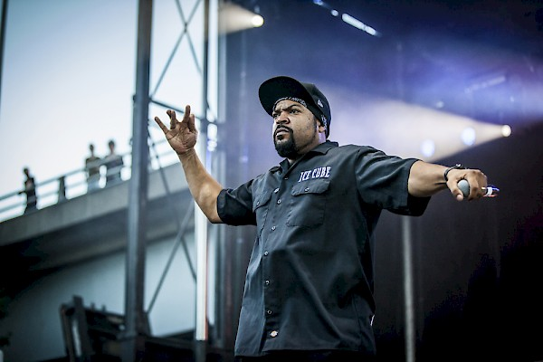 Welcome to the worldwide Westside—click to see more shots by Sam Gehrke of Ice Cube plus Ren and Yella on August 27