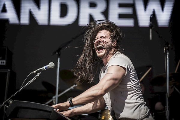 When it's time to party Andrew W.K. will always party hard—click to see more photos by Sam Gehrke from August 27