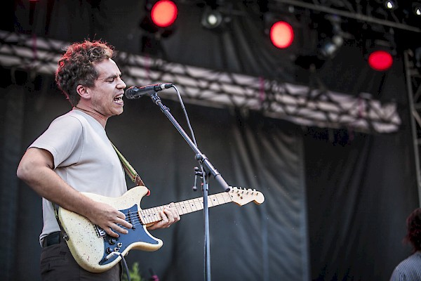 Andrew Savage of Parquet Courts—click to see more photos by Sam Gehrke from August 28