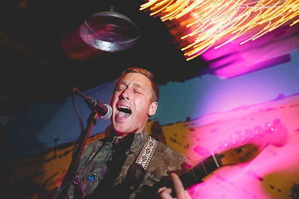 Aan's Bud Wilson performing songs from the band's second full-length record, 'Dada Distractions,' at Bunk Bar a month before the album's release via Portland's Party Damage Records—click to see more photos from the show by Beth Olson