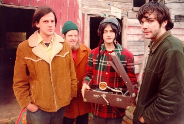 Neutral Milk Hotel (from left to right): Jeff Mangum, Scott Spillane, Julian Koster and Jeremy Barnes