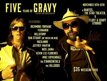Click for more details on Fluff & Gravy's individual anniversary shows