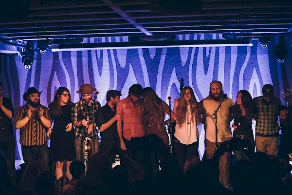Craigie's Portland family at the Doug Fir on December 15 celebrating the release of 'No Rain, No Rose' over a month early in front of a sold-out hometown crowd—click to see more photos by Jessie McCall