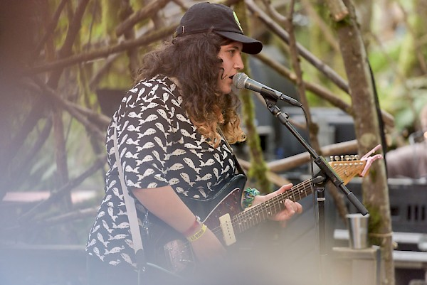Ellen Kempner of Palehound on the Woods Stage at Pickathon: Photo by Liam Gillies