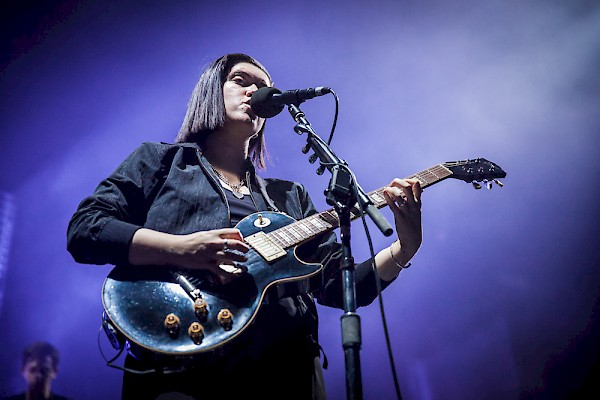 The xx at Veterans Memorial Coliseum on April 23—click to see more photos by Tojo Andrianarivo