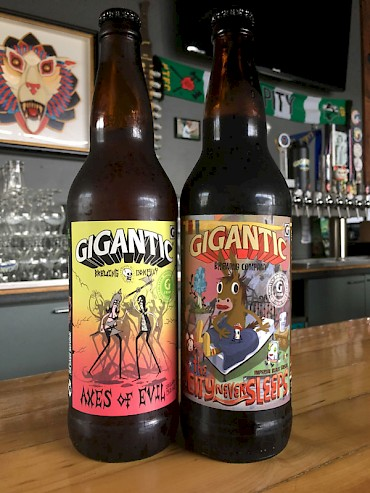 They said it couldn't, no wouldn't, ever be done but beers #2 and #3 from Gigantic (The City Never Sleeps and Axes of Evil, respectively) are back—this time with some musical accompaniment
