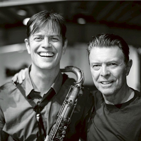 McCaslin with David Bowie