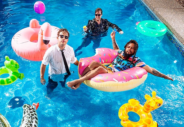 The Domestics and Myke Bogan got in the pool together for our cover shoot: Photo by Jason Quigley