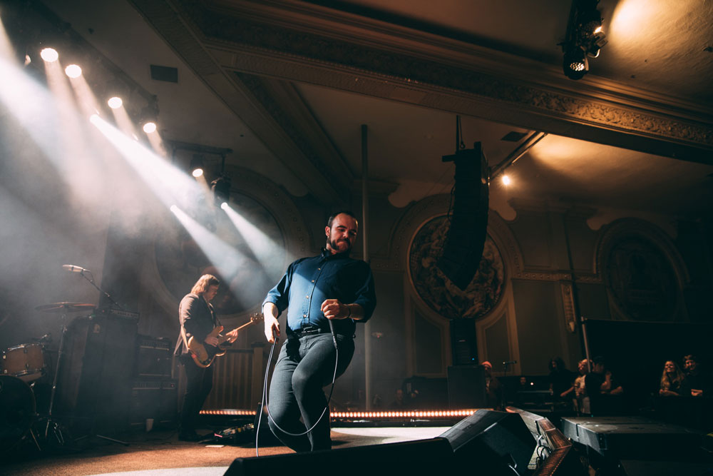 Future Islands, Crystal Ballroom, photo by Jessie McCall