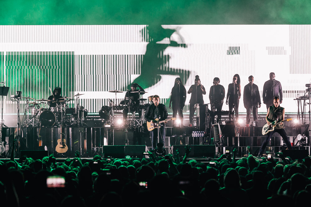 Gorillaz, KeyArena, Seattle Center, photo by Blake Sourisseau