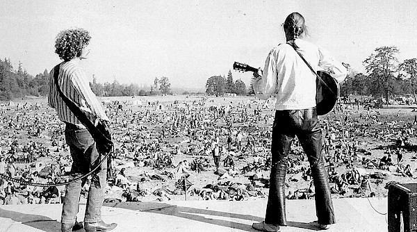 A scene from Vortex I at McIver State Park in August 1970: Photo by Glenn Davis—click to see more and read the history of the fest