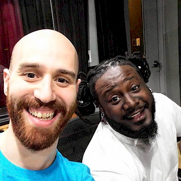 GLASYS and T-Pain in the studio