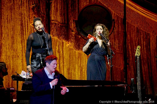 Portland's Tahirah Memory and Moorea Masa sharing the stage with k.d. lang at the Schnitz on February 27—click to see more photos by John Alcala
